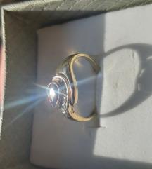 Prsten zlato safir i briljanti