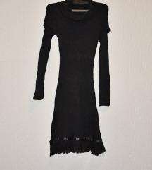Crna knit haljina