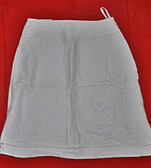 H&M bijela lan suknja