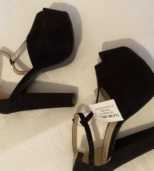 Crne sandale platforme