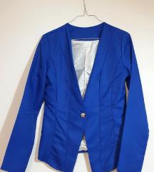 Ženski tamnoplavi asimetrični sako (nenošeno)