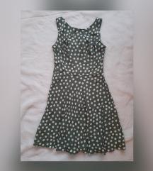 Zelena haljina s tockicama