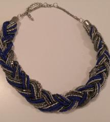C&A plavo srebrna ogrlica