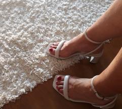Bijele sandale Uključen tisak %%