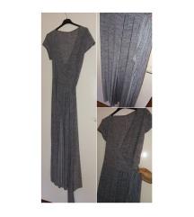 DUGA siva haljina  na preklop 40-42