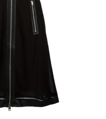 DIESEL crna haljina bez rukava sa zipom