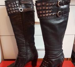 Aledona kožne crne čizme