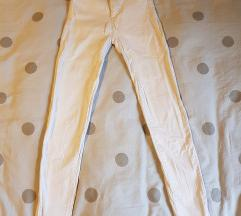 Bijele -high-waist-skinny-  hlače