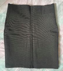 Stradivarius uska crna suknja
