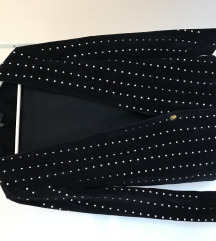 Zara crni sako s cirkonima