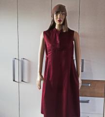 Bordo trudnička široka haljina br.42 i više