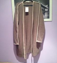 Zara siva vesta kardigan pulover jakna L