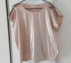 Clockhouse sjajna metalik majica s lancima