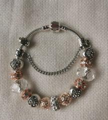 Pandora narukvica, rose gold, nova