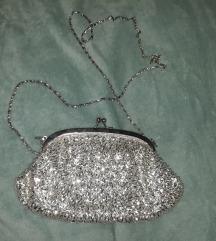 Svečana srebrna pismo torbica