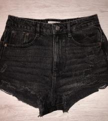 Kratke Crne Jeans Hlače
