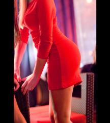 Crvena mini haljina