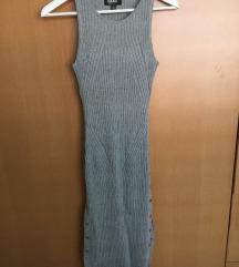 SNIŽENO!! Siva knit haljina