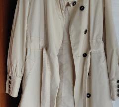 Mango Soft White trenchcoat S