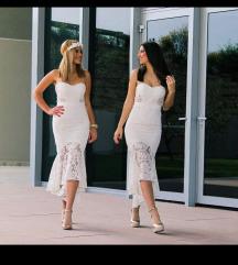 Bijela cipkana haljina velicine M