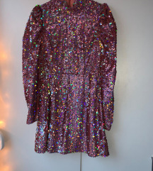 Zara šljokičasta haljina