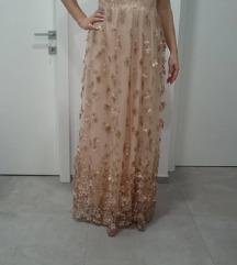 Prekrasna duga svečana haljina
