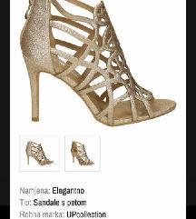 MASS zlatne štikle sandale