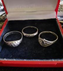 Lot 3 srebrna prstena