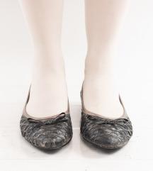 Crno-srebrne balerinke