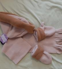 Kapa šal rukavice 0-2g