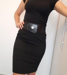 Crna poslovna uska suknja