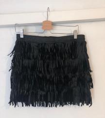 Kožna suknja mini