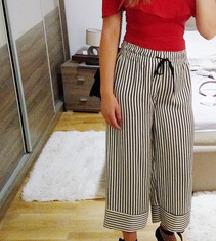 Široke svilenkaste hlače