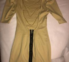 Žuta haljina s lancima