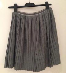 Plisirana siva suknja 34, xs