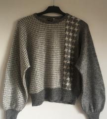 Vintage sivi džemper