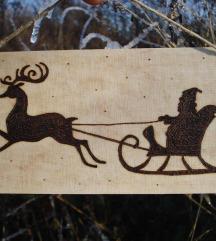 Božićna dekoracija, drvena tablica