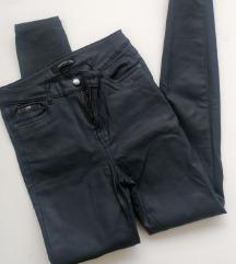 Kožne tamnoplave hlače