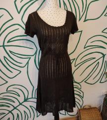 AKCIJA - Smeđa pletena haljina