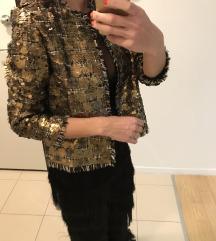 Zara sequin jakna sako