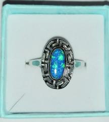 Prsten srebro 925,opal