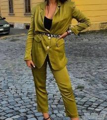 HIT Zeleno satensko odijelo Zara  M/S pt uključ.