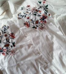 Bluzica Zara bijela,floral vez S do XL