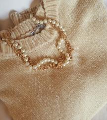 Vestica/majica PULL&BEAR ivory