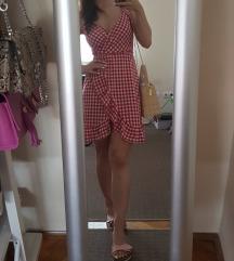 Crvena karirana Šaptač cipelama haljina