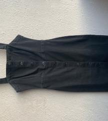 Haljina  jeans crna