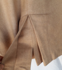 Krem-bež zimska jakna i suknja na falte L
