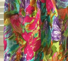 Cvjetna šarena suknja na preklop