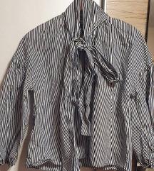 Zara košulja na vezivanje mašne oko vrata