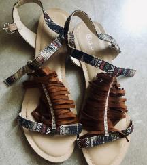 65kn!!! Kožne boho sandale sa resama